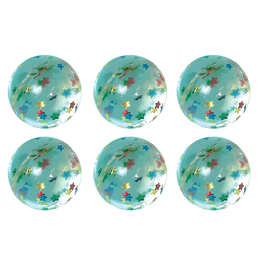 Star Glitter Bounce Balls 6ct Image #1
