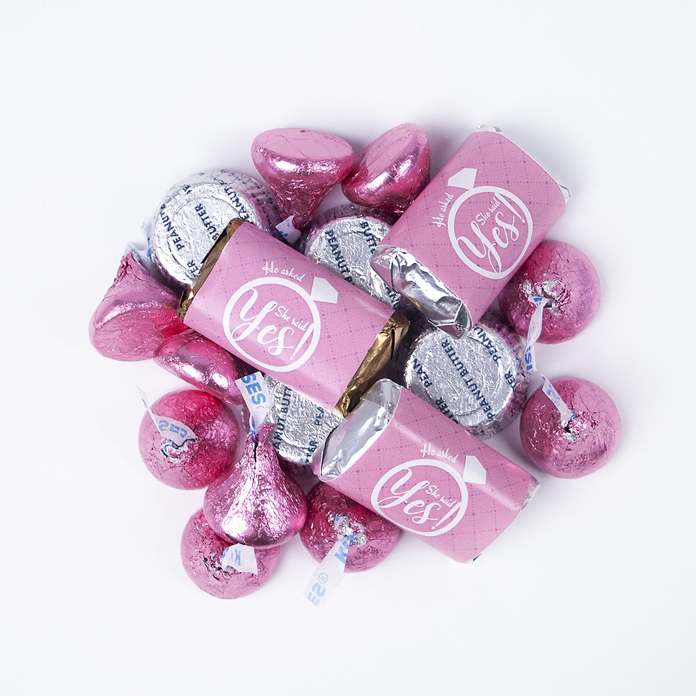 Bridal Shower Hershey's Miniatures, Kisses and JC Peanut Butter Cups 180pc Image #1