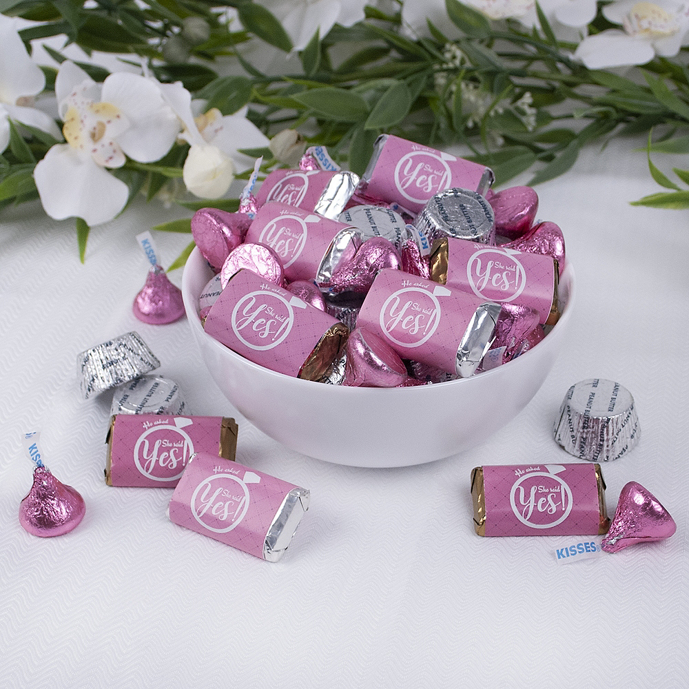 Bridal Shower Hershey's Miniatures, Kisses and JC Peanut Butter Cups 180pc Image #2