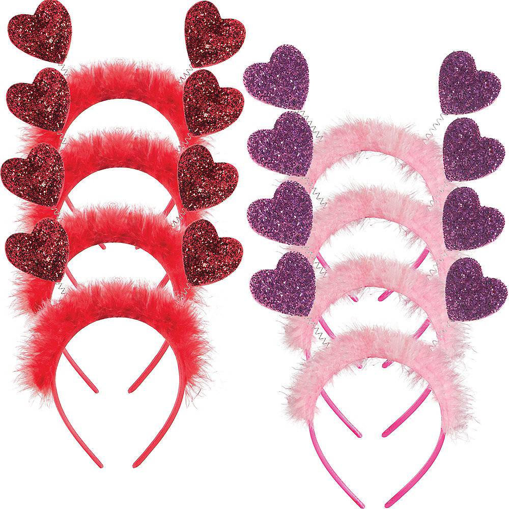 Pink & Red Glitter Heart Valentine's Day Headbopper Kit Image #1