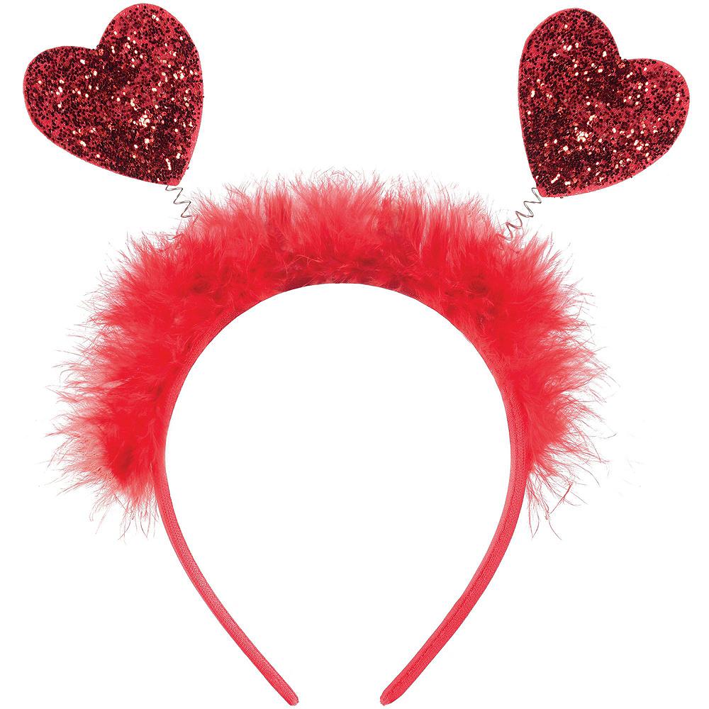 Pink & Red Glitter Heart Valentine's Day Headbopper Kit Image #2