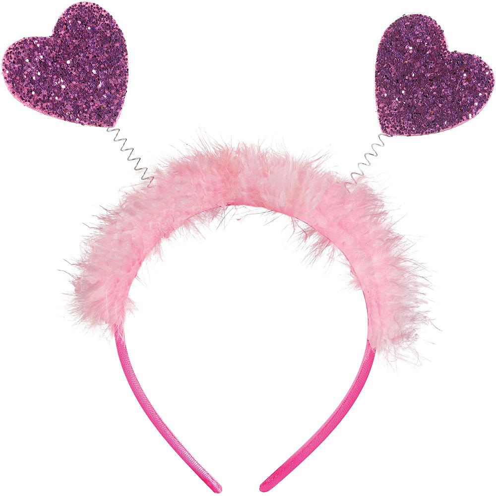 Pink & Red Glitter Heart Valentine's Day Headbopper Kit Image #3