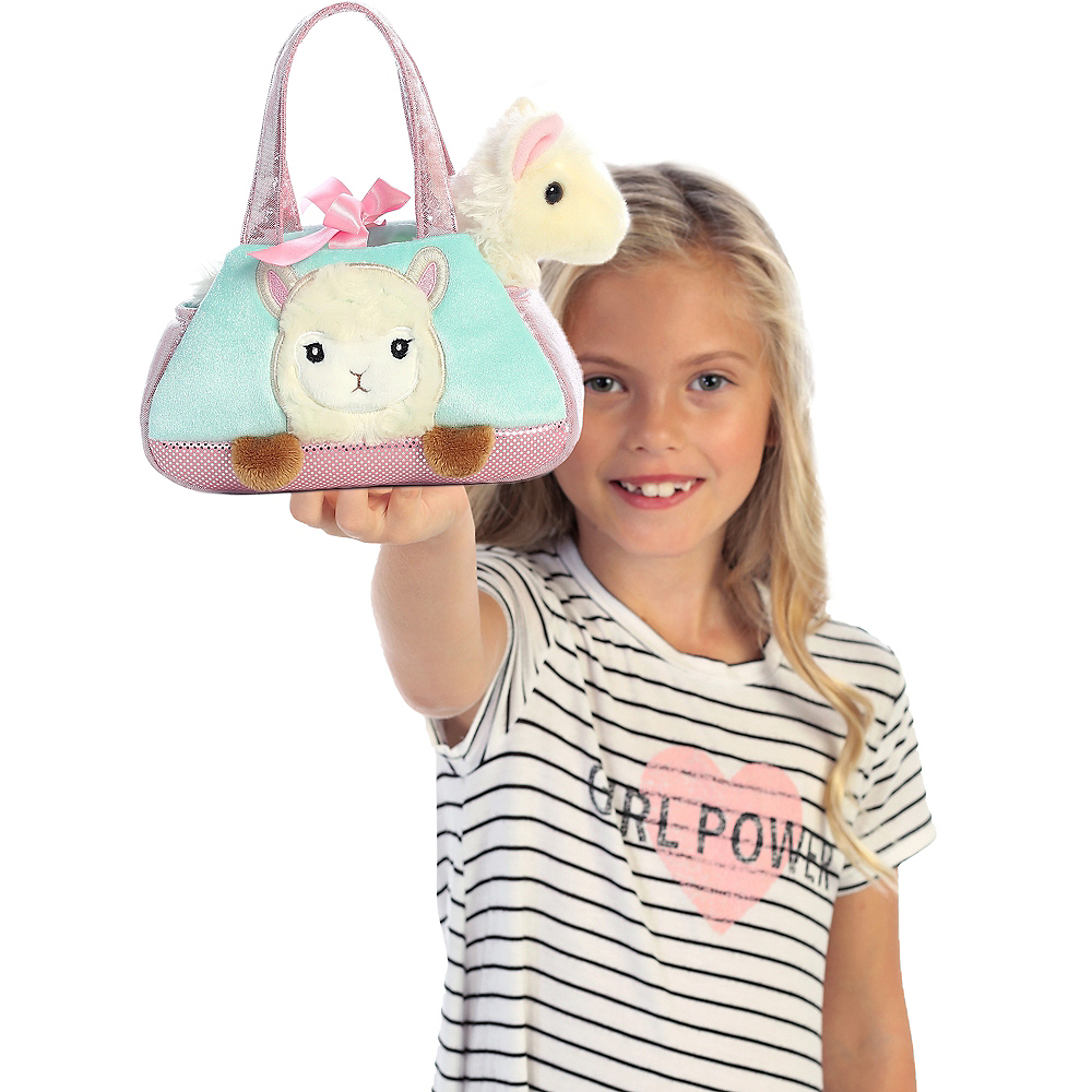 Fancy Pals Peek-A-Boo Llama Purse Plush Image #2