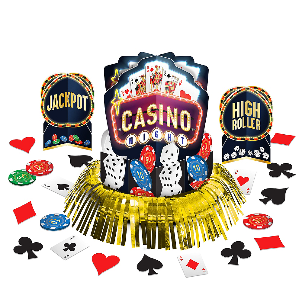 Roll the Dice Casino Table Decorating Kit 23pc Image #1