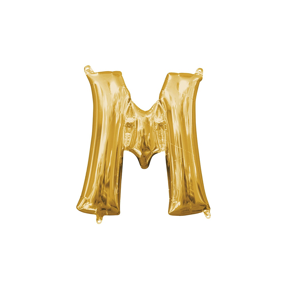 13in Air-Filled Gold Marry Me Letter Balloon Kit Image #8