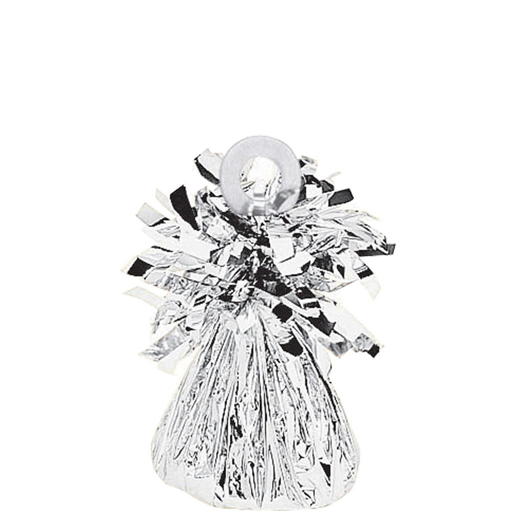 13in Air-Filled Silver Marry Me Letter Balloon Kit Image #2