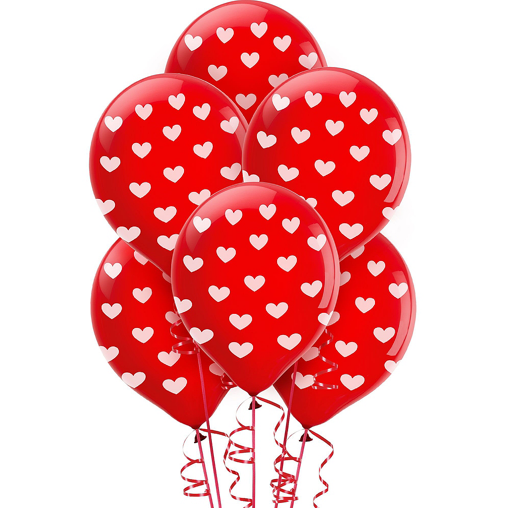13in Air-Filled Silver I Love You Letter Balloon Kit Image #12