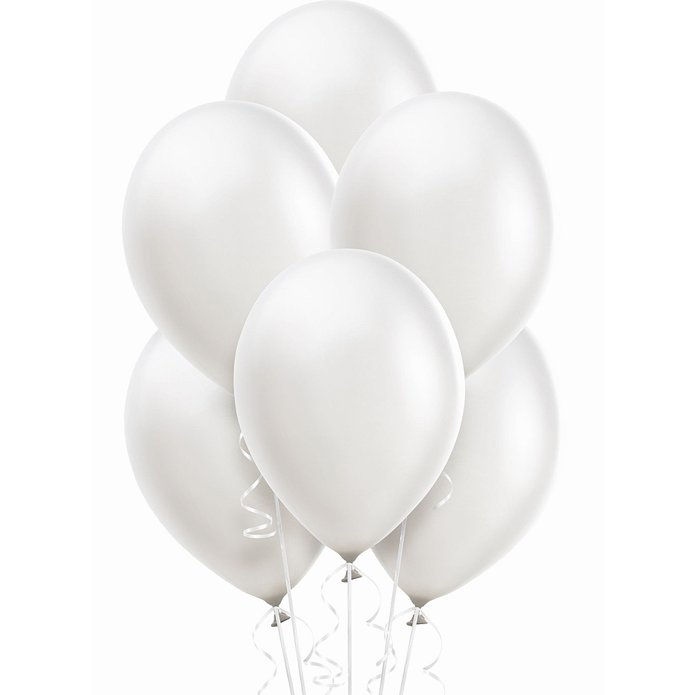 21in Air-Filled Silver Love Cursive Letter Balloon Kit Image #5
