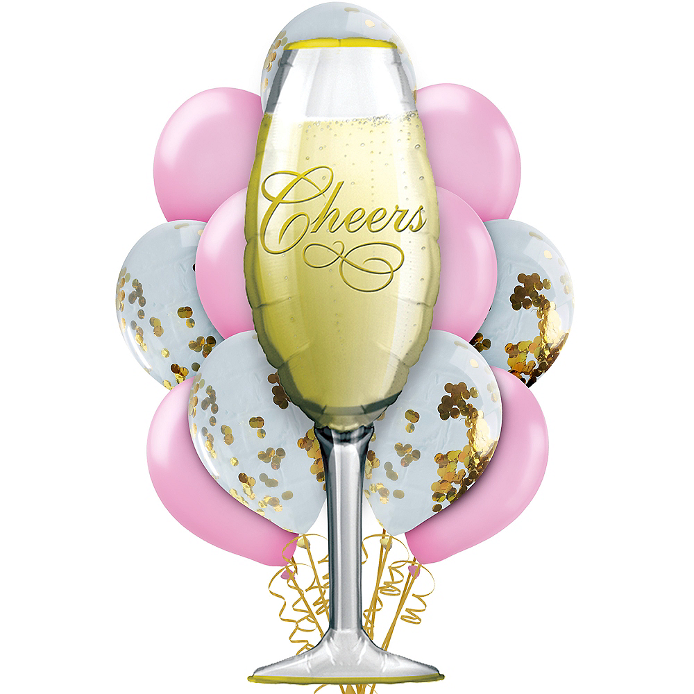 Gold & Pink Champagne Balloon Kit Image #1