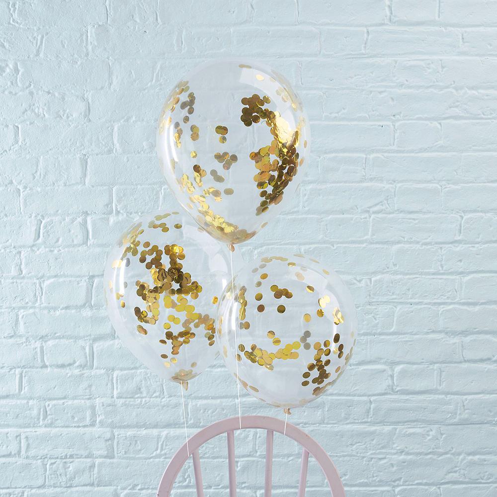 Gold & Pink Champagne Balloon Kit Image #5
