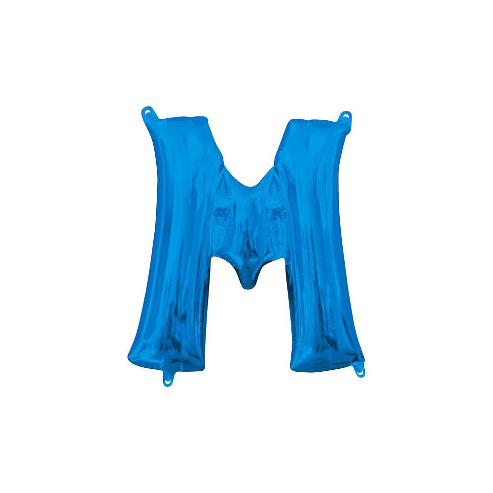 13in Air-Filled Blue Mr. & Mr. Letter Balloon Kit Image #3