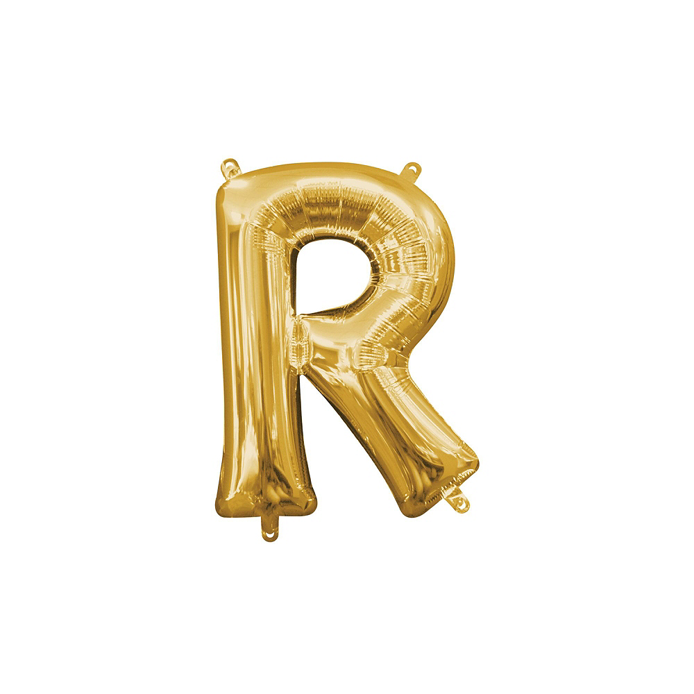 13in Air-Filled Gold Pride Letter Balloon Kit Image #6