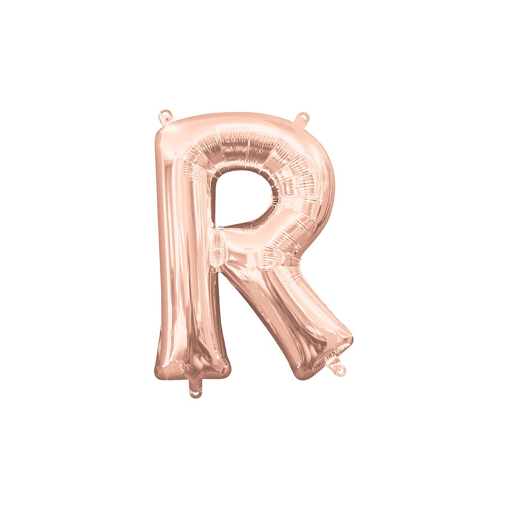 13in Air-Filled Rose Gold Pride Letter Balloon Kit Image #6