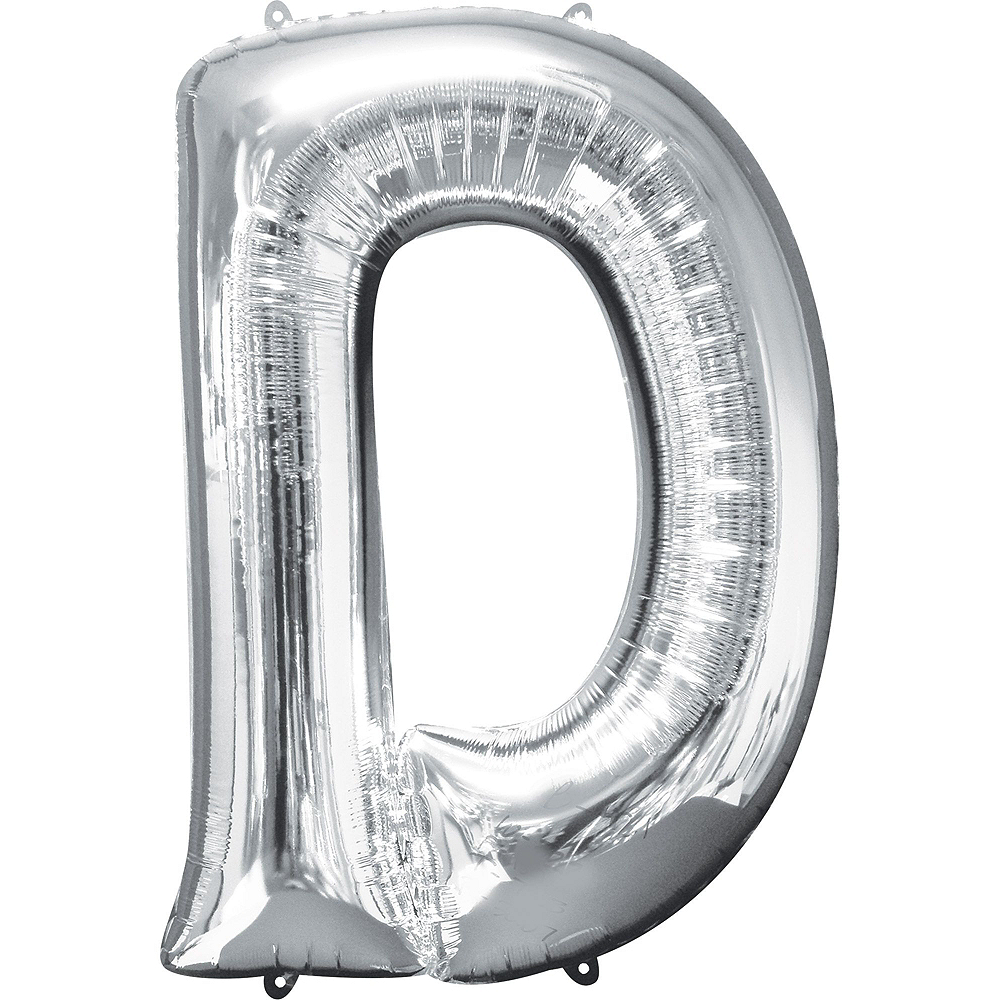 34in Silver Pride Letter Balloon Kit Image #3