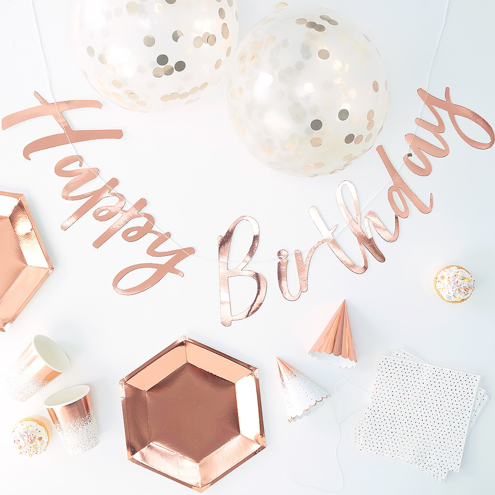 Ginger Ray Metallic Rose Gold Party in a Box Kit 70pc Image #1