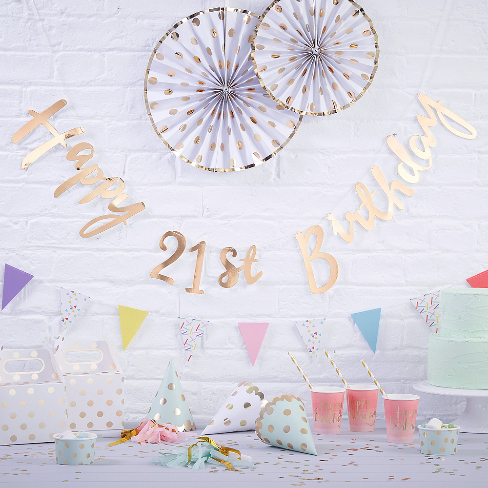 Happy 21st Birthday Images.Ginger Ray Metallic Gold Happy 21st Birthday Banner
