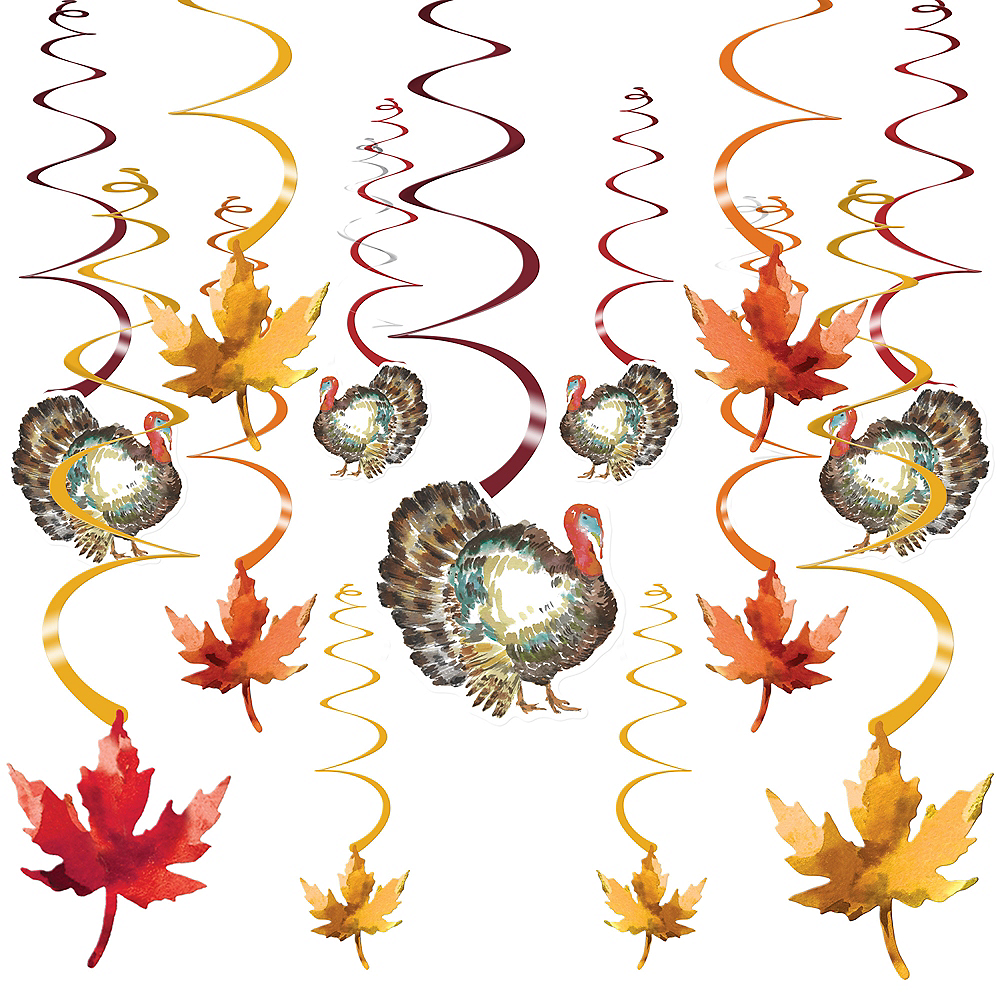 Classic Thanksgiving Mega Value Pack Swirl Decorations 30ct Image #1