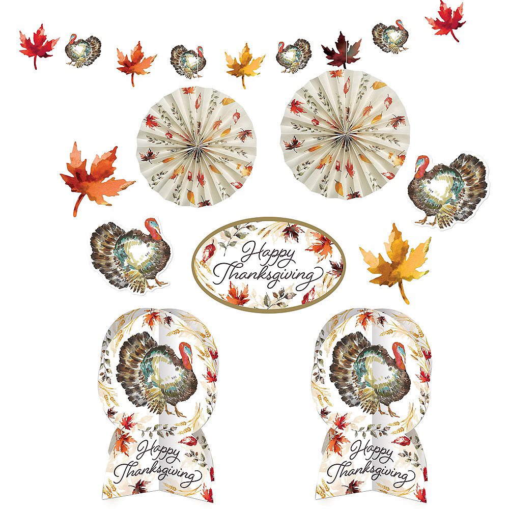 Classic Thanksgiving Room Decorating Kit Image #1
