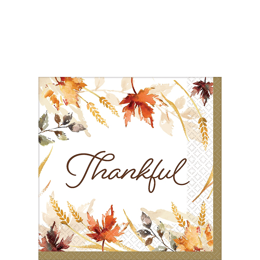Classic Thanksgiving Beverage Napkins 125ct Image #1