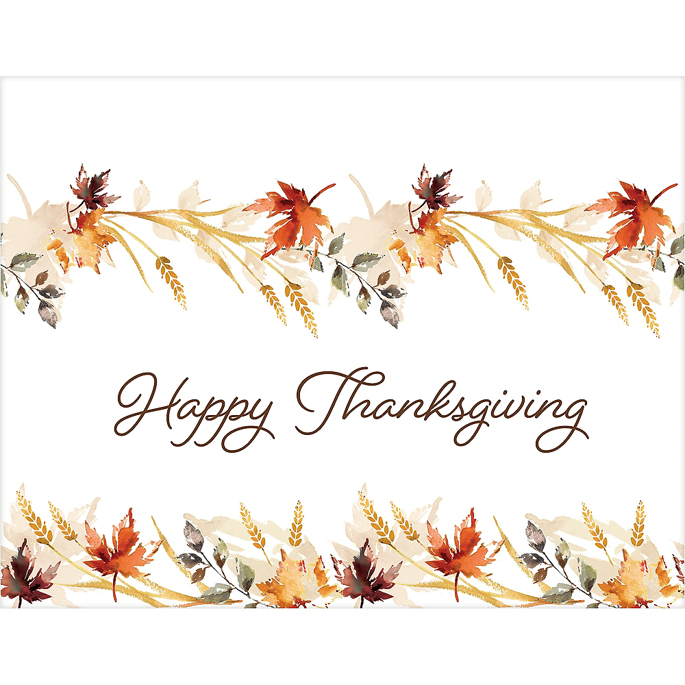 Classic Thanksgiving Plastic Table Cover Image #2