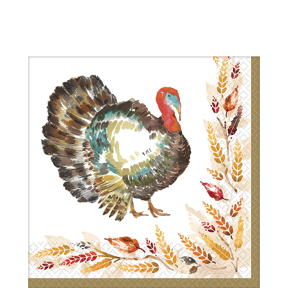 Classic Thanksgiving Lunch Napkins 125ct Image #1