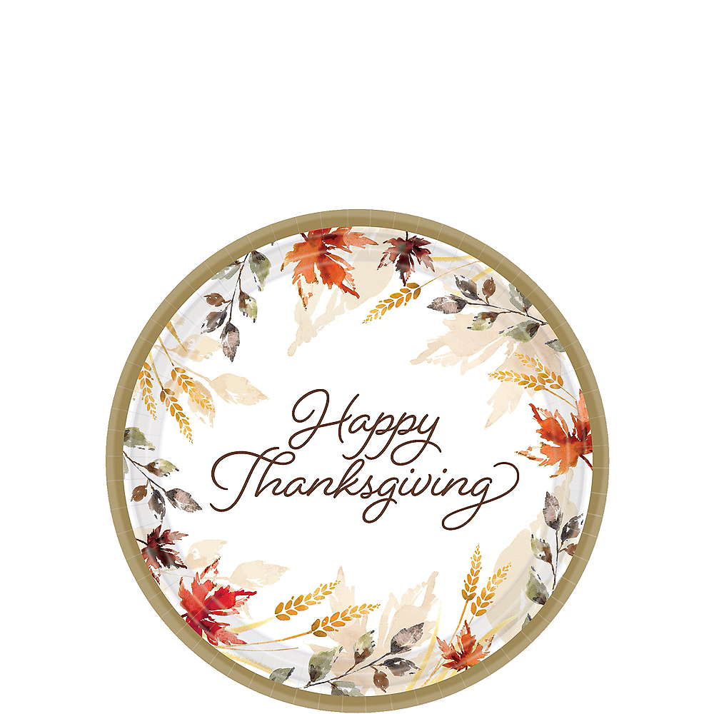 Big Party Pack Classic Thanksgiving Dessert Plate 60ct Image #1