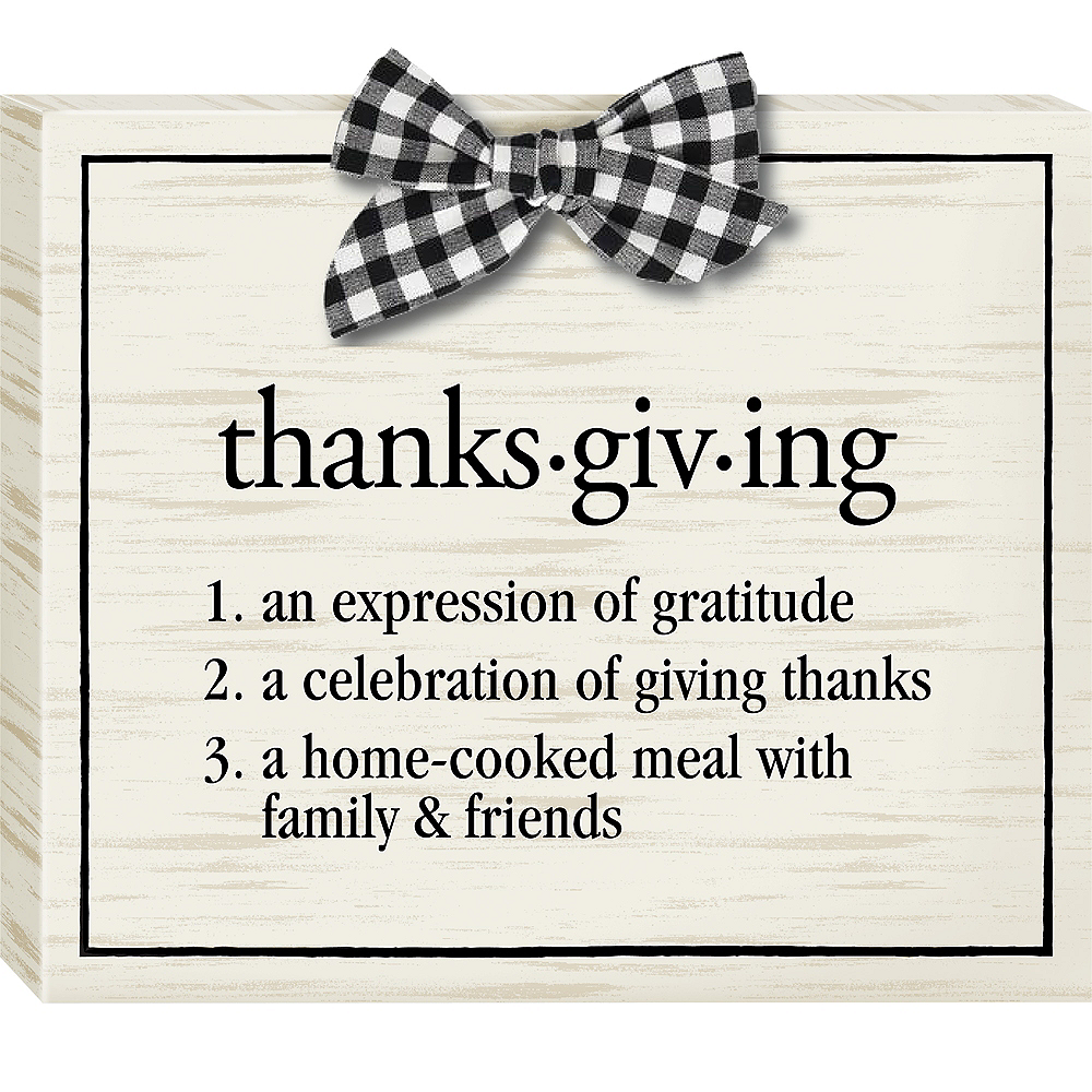 Thanksgiving Definition Block Sign Image #1