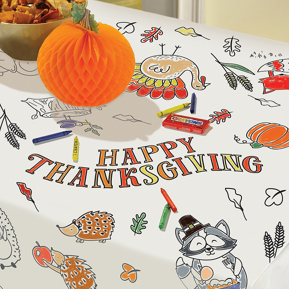 Nav Item for Coloring Thanksgiving Paper Table Cover Image #1