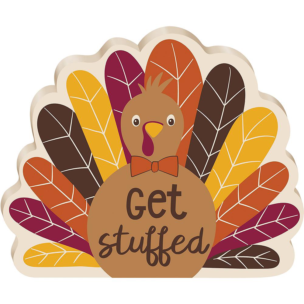 Mini Get Stuffed Turkey Block Sign Image #1