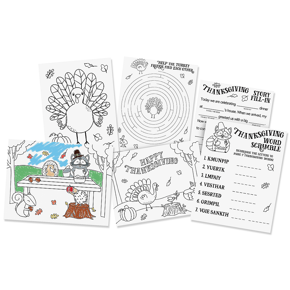 Traditional Thanksgiving Activity Sheets Image #1