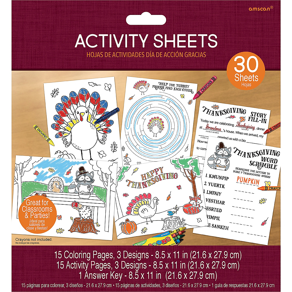 Traditional Thanksgiving Activity Sheets Image #3