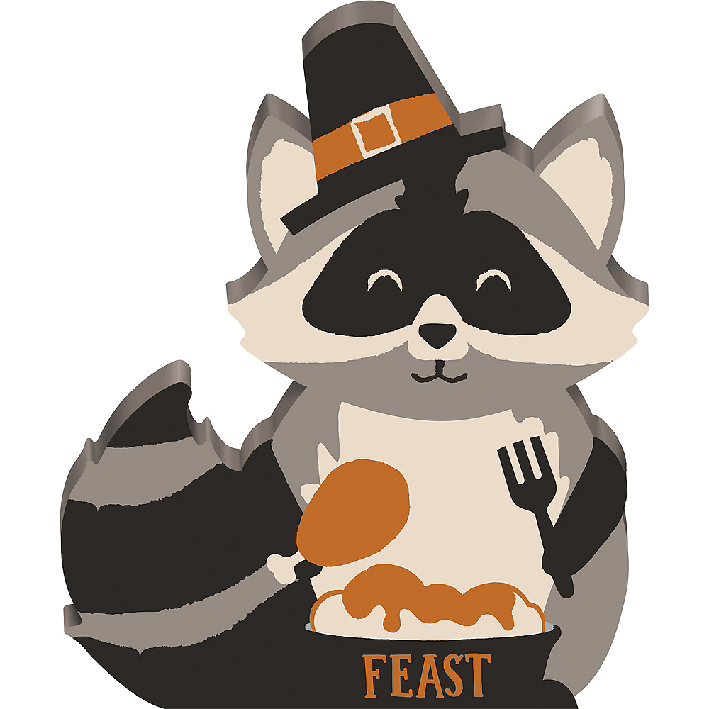 Mini Standing Raccoon Block Sign Image #1