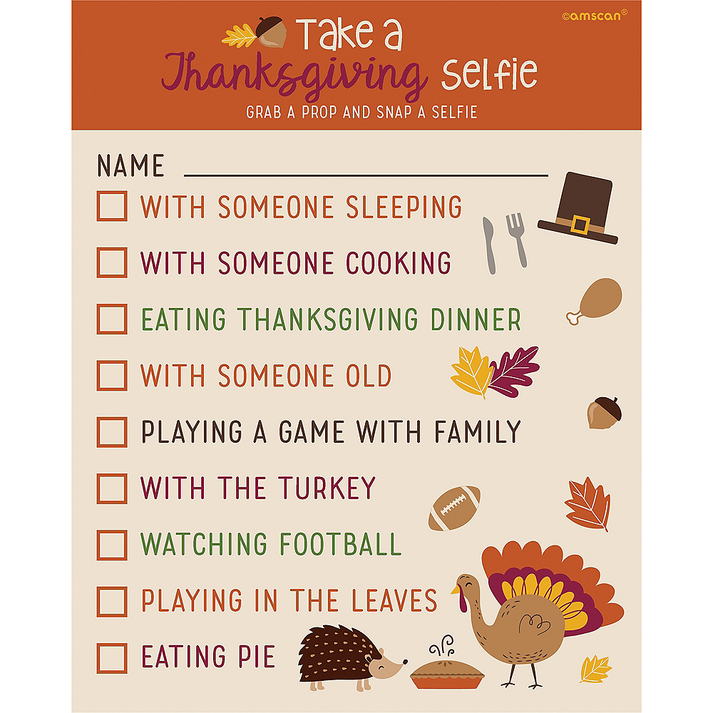 Thanksgiving Scavenger Hunt Photo Props Image #1