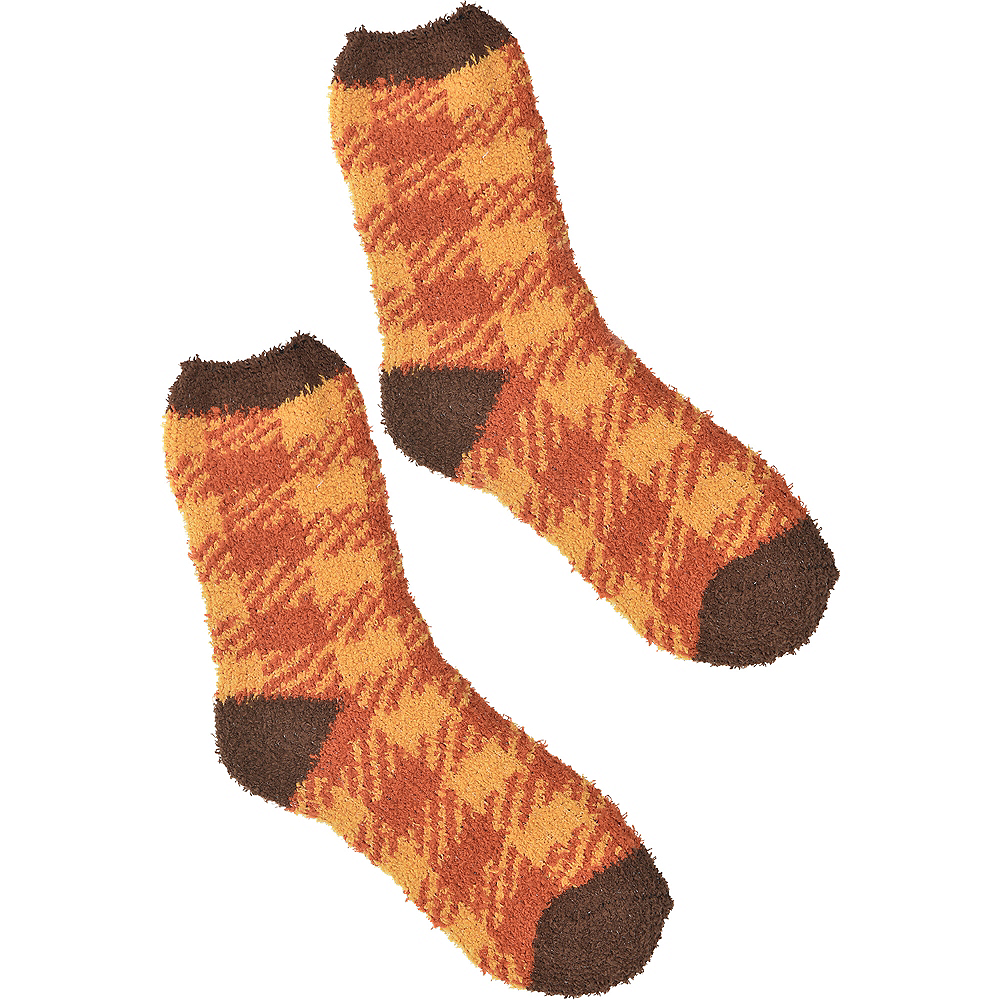 Nav Item for Adult Thanksgiving Plaid Ankle Socks Image #1