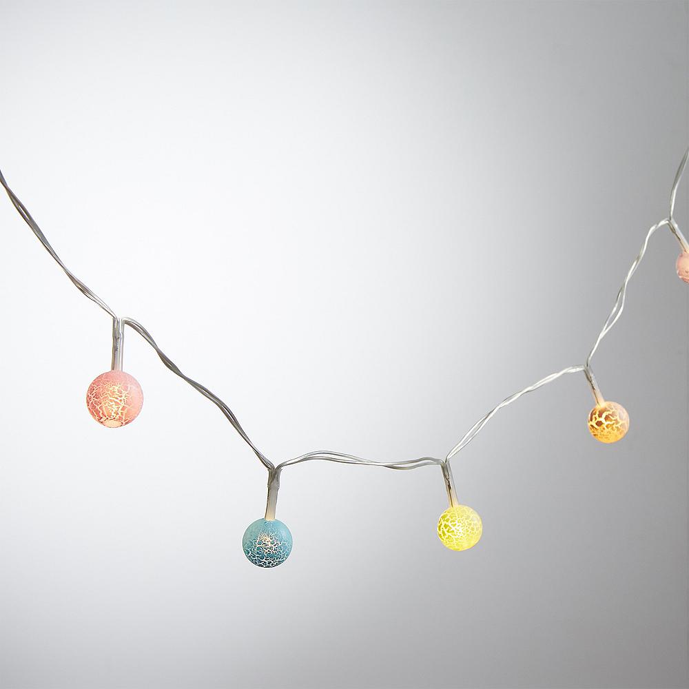 Mini Colorful Crackle Globe LED String Lights Image #1