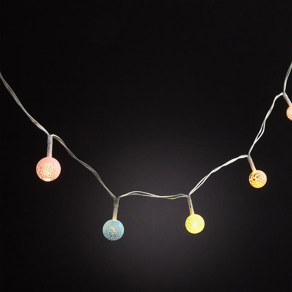 Mini Colorful Crackle Globe LED String Lights Image #2