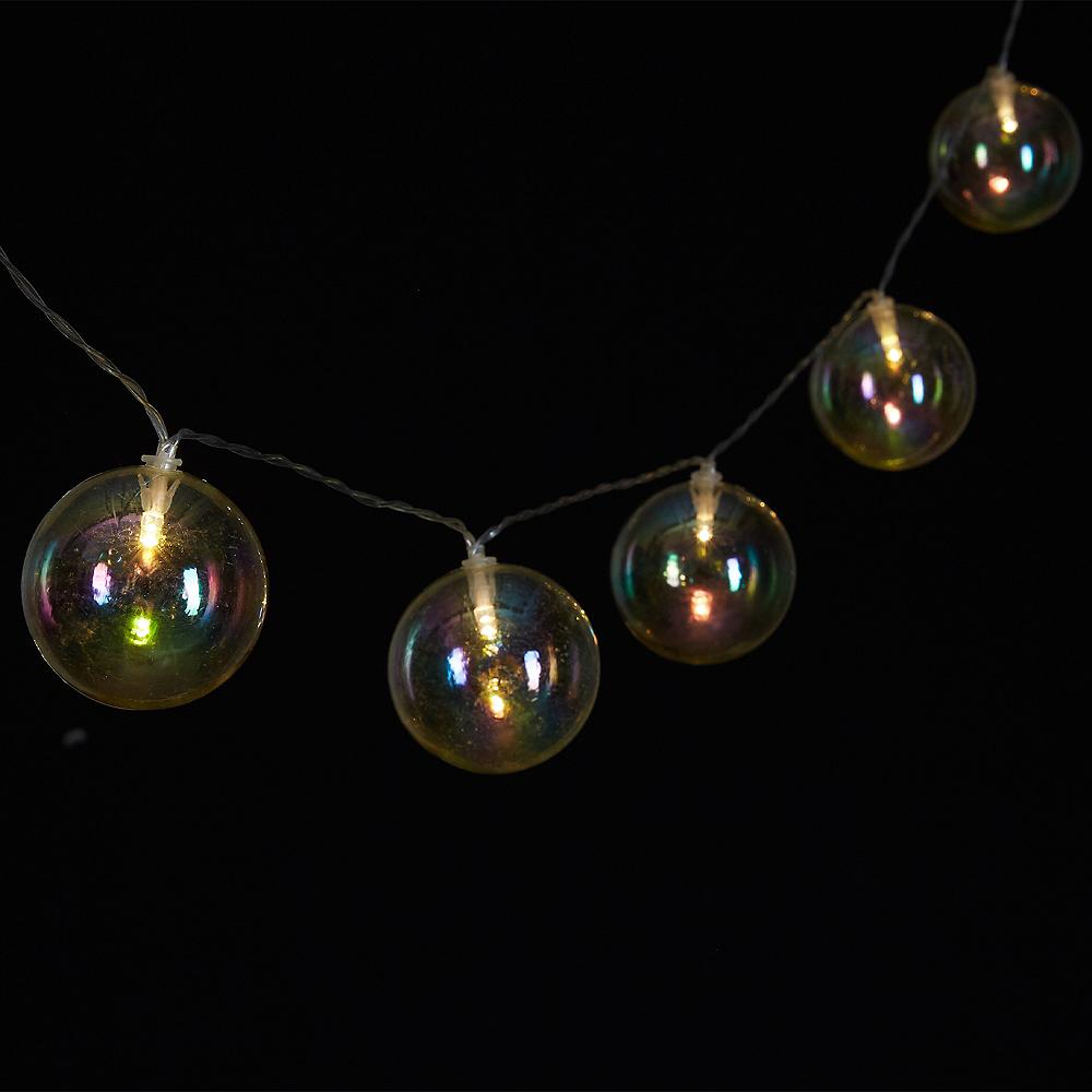 Iridescent Globe LED String Lights Image #2