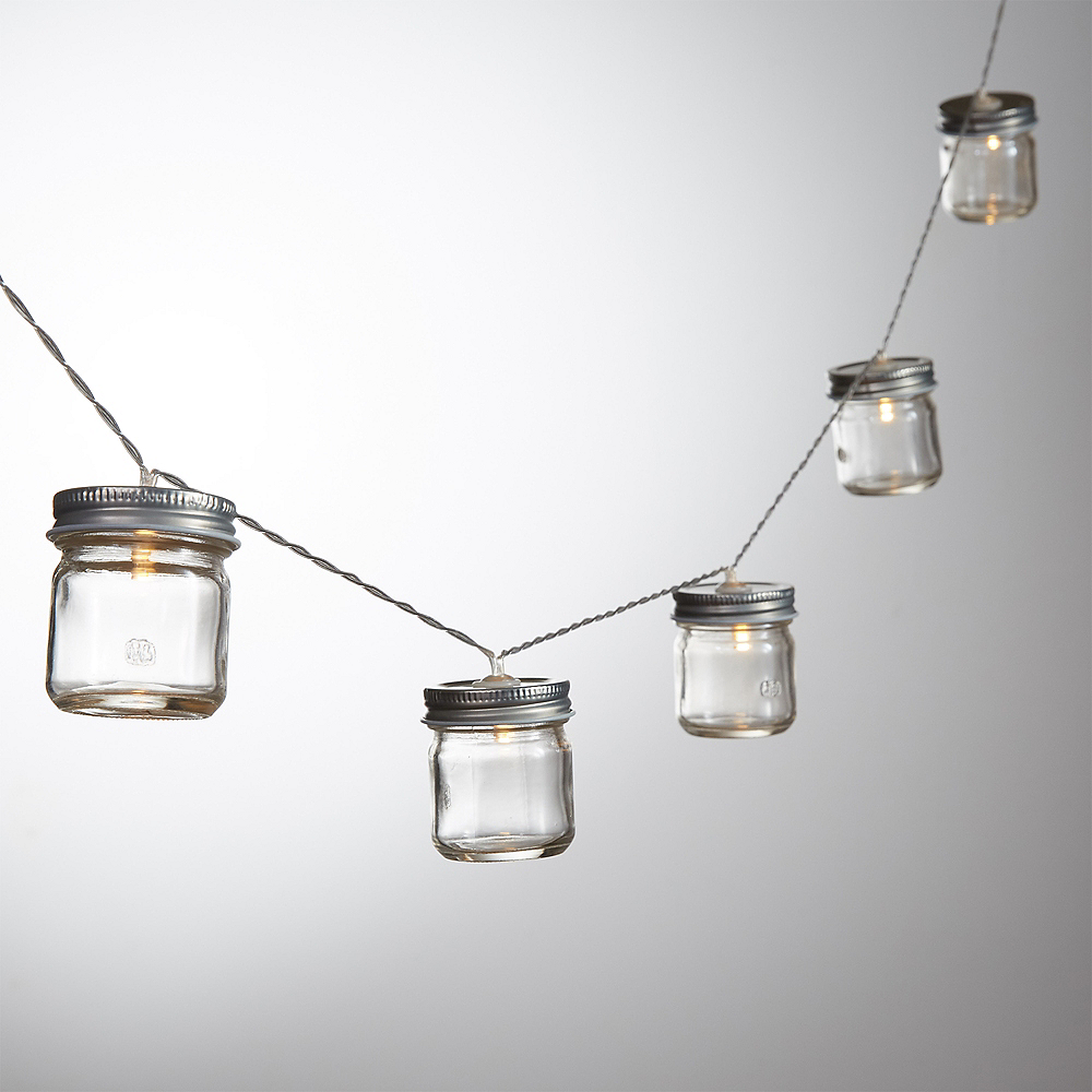 Mason Jar Led String Lights 6ft Party City