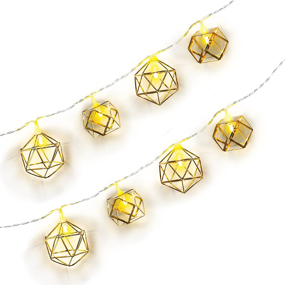 Geometric LED String Lights Image #1