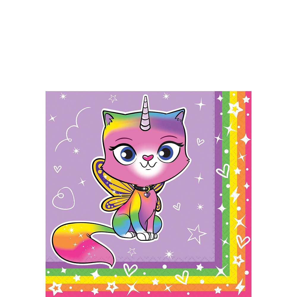 Ultimate Rainbow Butterfly Unicorn Kitty Party Kit for 16 Guests Image #4