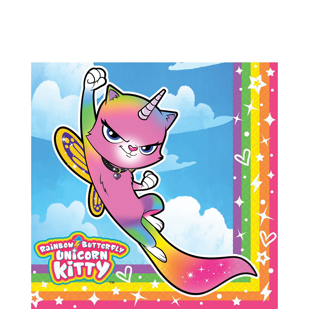 Ultimate Rainbow Butterfly Unicorn Kitty Party Kit for 16 Guests Image #5