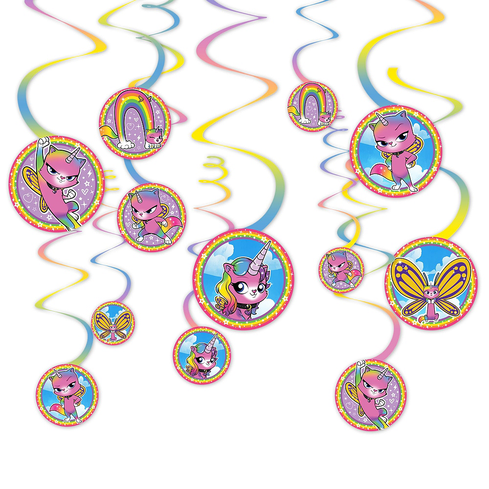 Ultimate Rainbow Butterfly Unicorn Kitty Party Kit for 16 Guests Image #12