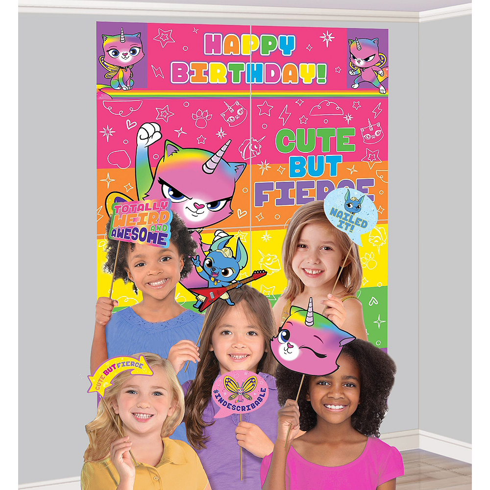 Ultimate Rainbow Butterfly Unicorn Kitty Party Kit for 16 Guests Image #17