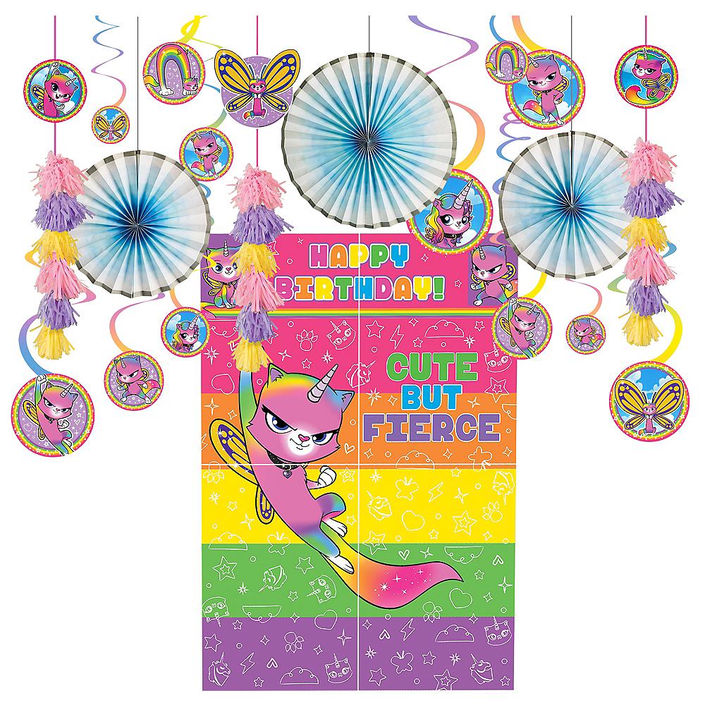 Rainbow Butterfly Unicorn Kitty Decorating Kit Image #1
