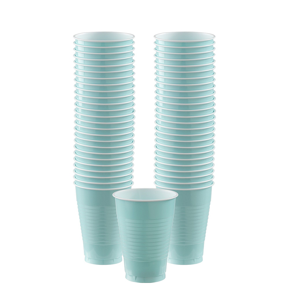 Pastel Plastic Tableware Kit for 100 Guests Image #8