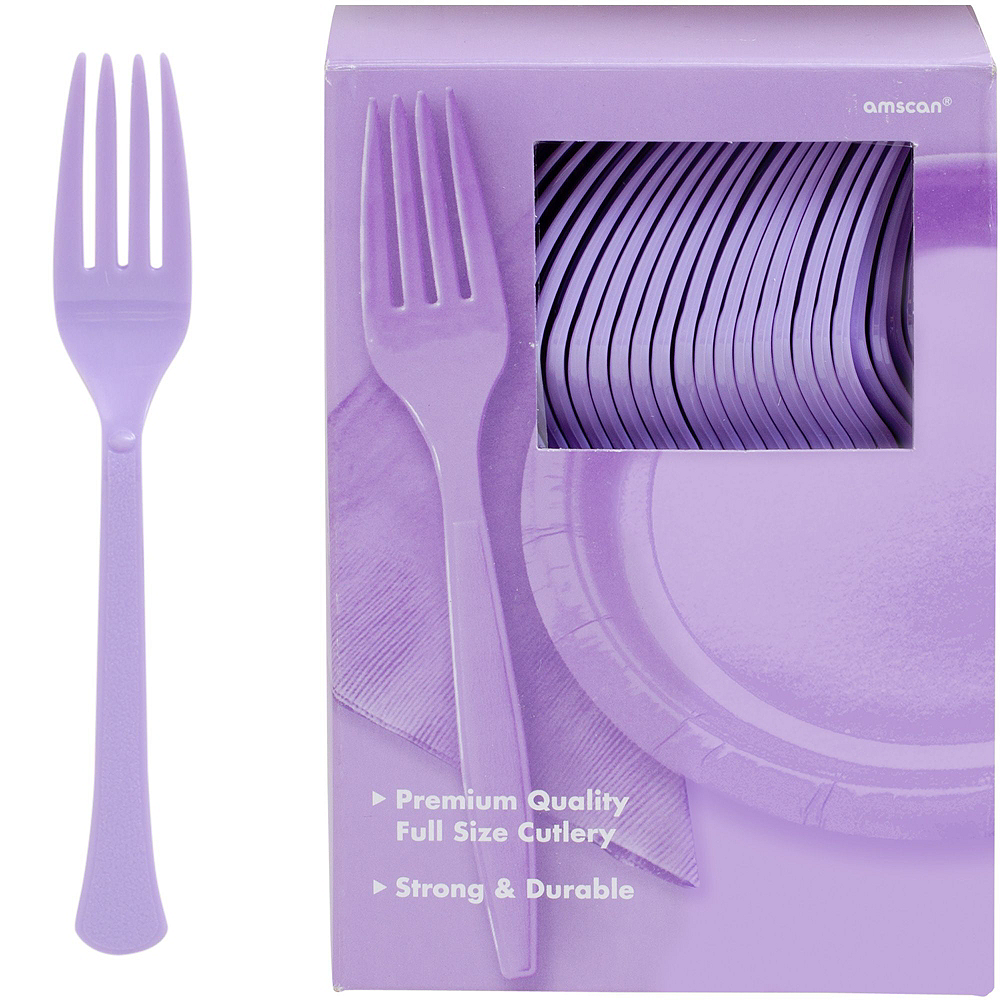 Pastel Plastic Tableware Kit for 100 Guests Image #10