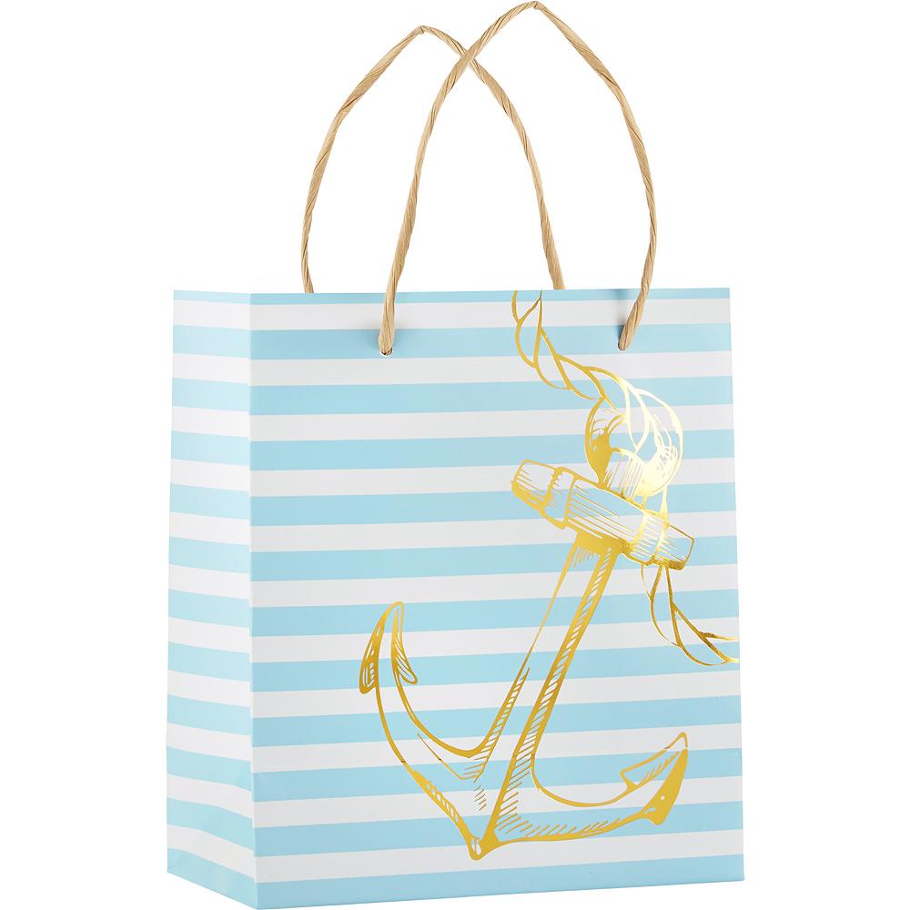 Blue & Gold Nautical Kraft Gift Bags 6ct Image #2