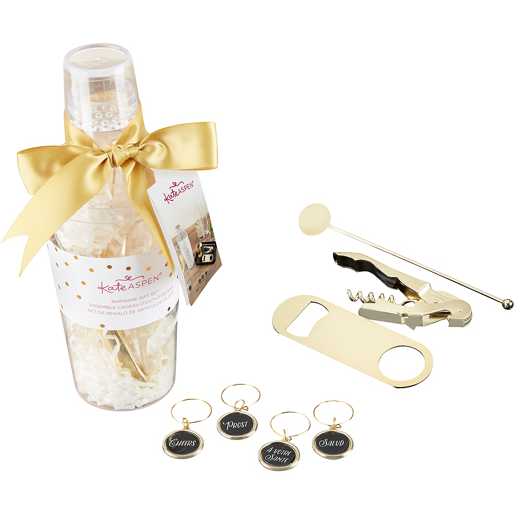 Gold Cocktail Gift Set 8pc Image #1