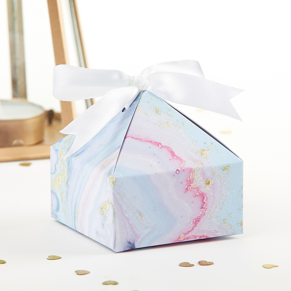 Marble Favor Boxes 12ct Image #1