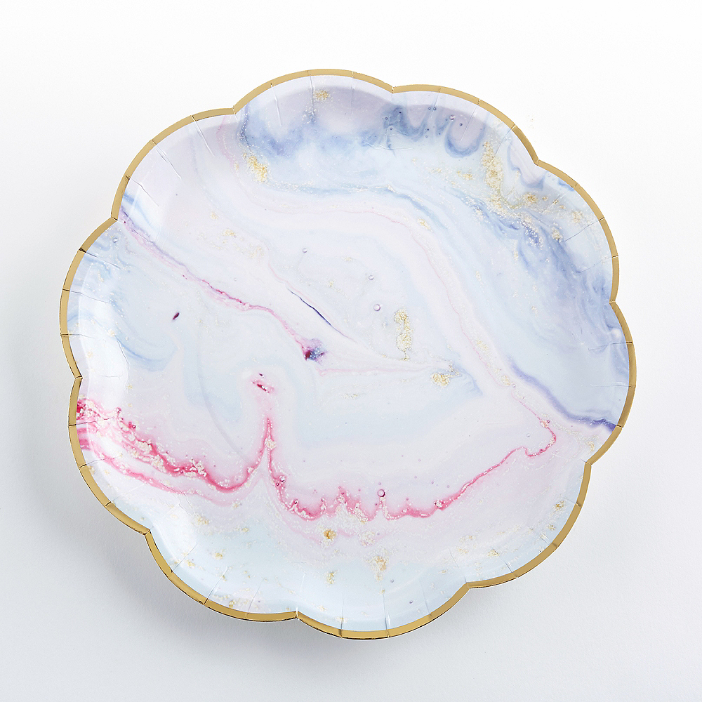 Marble Lunch Plates 8ct Image #1